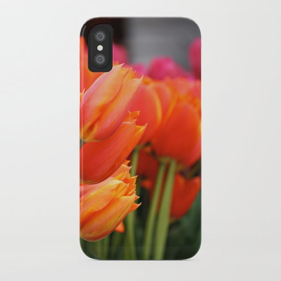 Cheery Tulips iPhone Case
