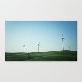 Kansas Windmills Canvas Print