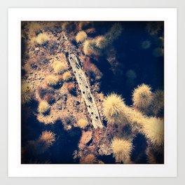 Joshua Tree Cactus Garden Art Print