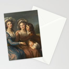 The Marquise de Pezay, and the Marquise de Rougé with Her Sons Alexis and Adrien by Élisabeth Vigée Le Brun Stationery Cards