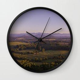 Sunrise Glassy Mountain, South Carolina Wall Clock