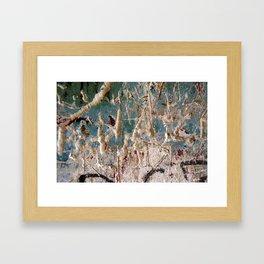 Scratched Surface Framed Art Print