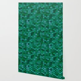 Green Penny Scales Wallpaper