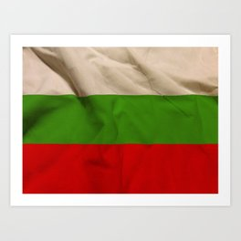 Bulgarian flag Art Print
