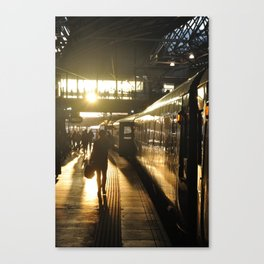 The golden age of the train - Leeds - UK Canvas Print