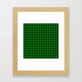 Small Green Weave Framed Art Print