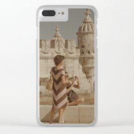 Miguel Belem Tower Lisbon Clear iPhone Case