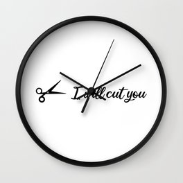 hairdresser quote Wall Clock