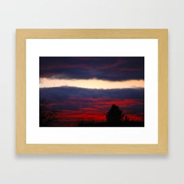 separation leaves ember in the sunsets Framed Art Print