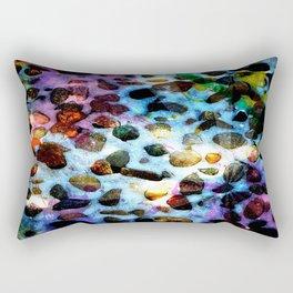 Pebbles In Snow Rectangular Pillow