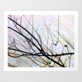 Winter Birdie Art Print