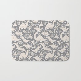 Delightful Dinos (gray) Bath Mat