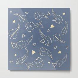 Triangleaves Metal Print