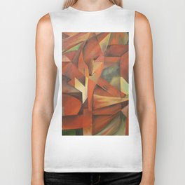 Foxes - Homage to Franz Marc (1913) Biker Tank