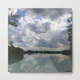 Lake View Nature Photo Sky Metal Print