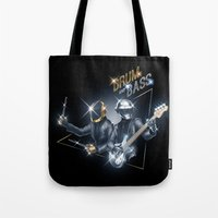 drum Tote Bags featuring Drum & Bass by ajinda