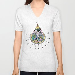 Create Ripples Unisex V-Neck