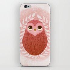 Pink Owl iPhone & iPod Skin