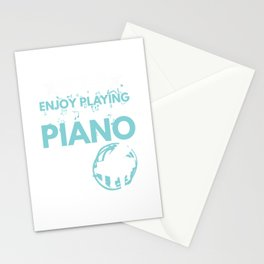 Funny Pianist I Don't Always Enjoy Playing Piano Player Stationery Cards