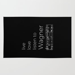 Live, love, listen to Wagner (dark colors) Rug