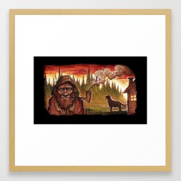 Old Grundle Frumptin Framed Art Print