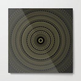 solar eclipse. visionary art. sacred geometry Metal Print