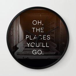 Oh, The Places You'll Go (Morgue) Wall Clock