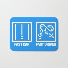 Fast Car - Fast Driver v4 HQvector Bath Mat
