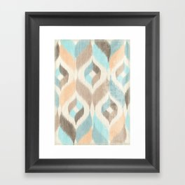 Soothing Waves Ikat Framed Art Print