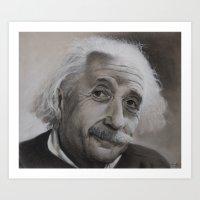 einstein Art Prints featuring Einstein by Sylvain Klein