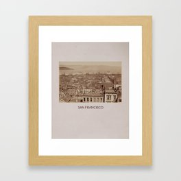 SAN FRANCISCO - A VIEW FROM CALIFORNIA ST Framed Art Print