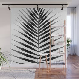 Palm Leaf Watercolor | Black and White Wall Mural