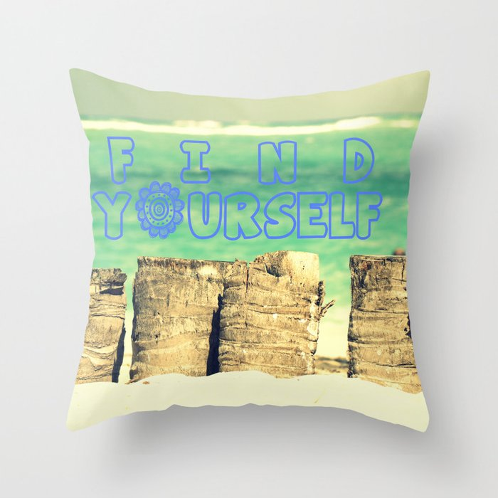 Find yourself Throw Pillow
