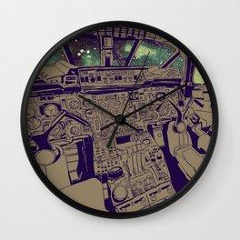 SpaceJet (Color) Wall Clock