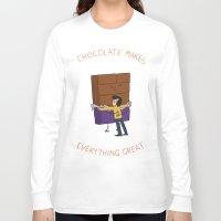 chocolate Long Sleeve T-shirts featuring Chocolate! by Wackom