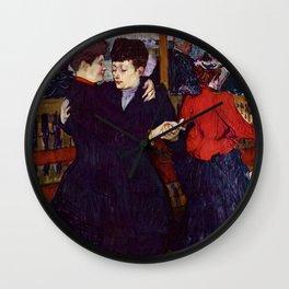 "Henri de Toulouse-Lautrec ""Two Woman Waltzing"" Wall Clock"