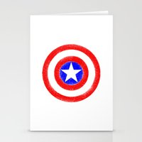 agents of shield Stationery Cards featuring Shield (W) by Luca Draws