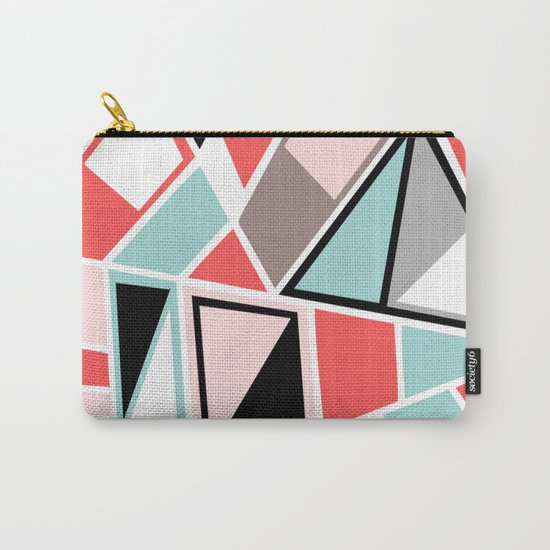 Abstract #534 Facets Carry-All Pouch