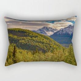 Termination Dust - Glenn Highway, Alaska Rectangular Pillow