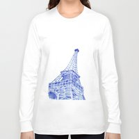 eiffel tower Long Sleeve T-shirts featuring Eiffel Tower by BlueShadowM