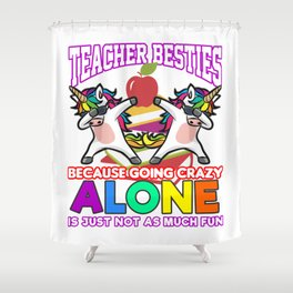 TEACHER BUDDIES Unicorn Primary School Student Shower Curtain