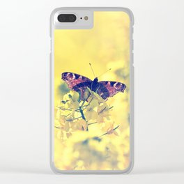 Sunshine and Butterflies Clear iPhone Case