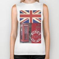 british flag Biker Tanks featuring Very British by LebensART