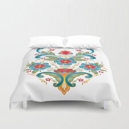 Nordic Rosemaling Duvet Cover