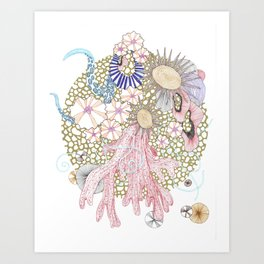 Golden Reef Art Print
