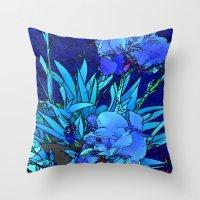 iris Throw Pillows featuring Iris by lillianhibiscus