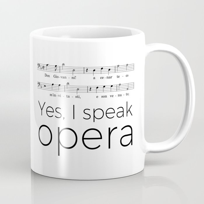 I speak opera (bass) Coffee Mug