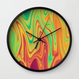 Bright Rainbow Wiggles Wall Clock