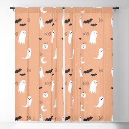 Boo To You - Orange Blackout Curtain