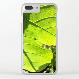 Fig leaf Clear iPhone Case